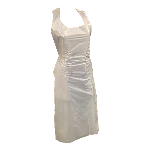 Aprons Plastic  100 pieces (White)